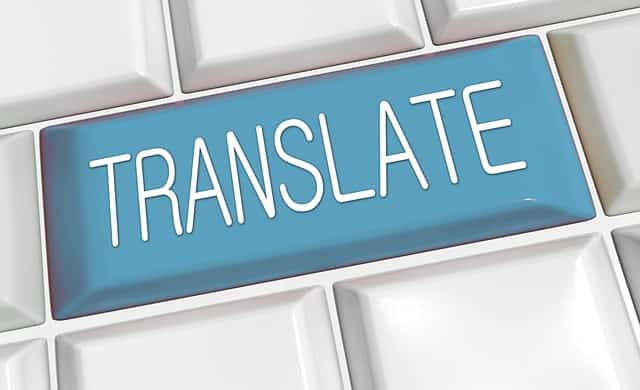 traduction de site web en anglais